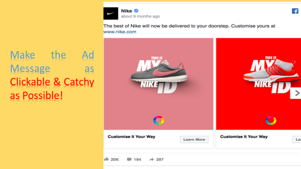 Make the Ad Message As Clickable And Catchy As Possible
