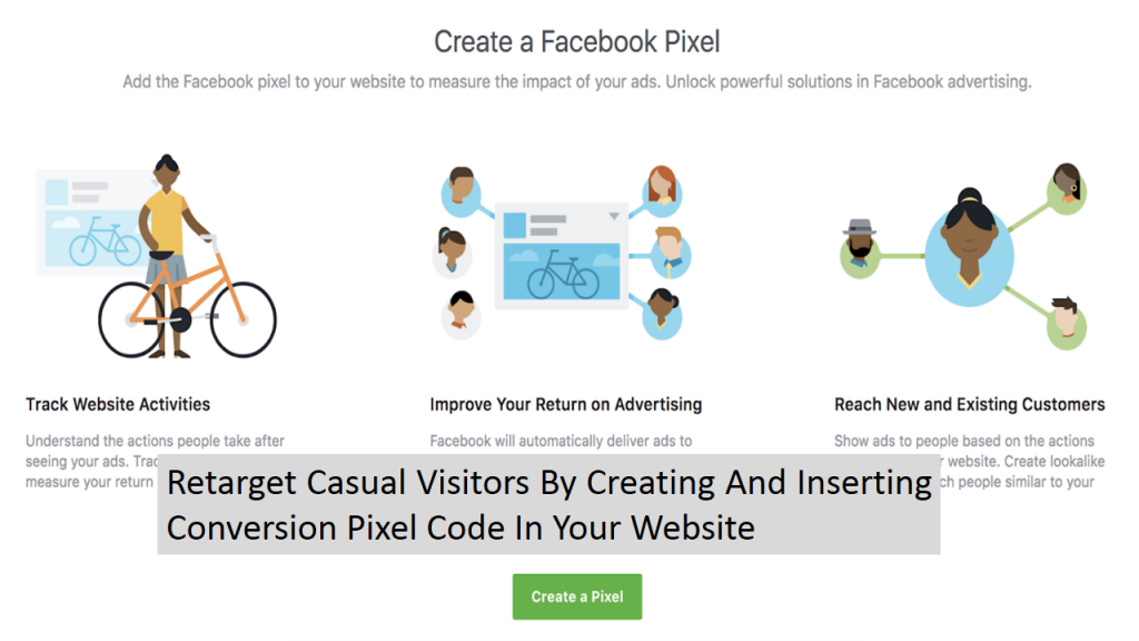 Use Conversion Pixel To Re-target Casual Visitors