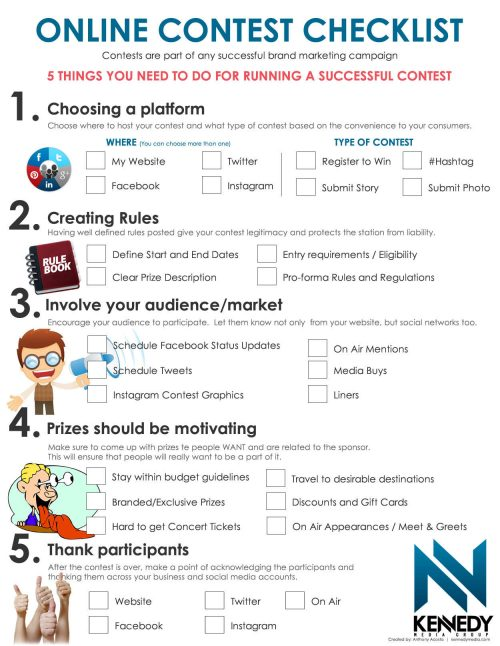 host an online content- one of the great marketing ideas for small business