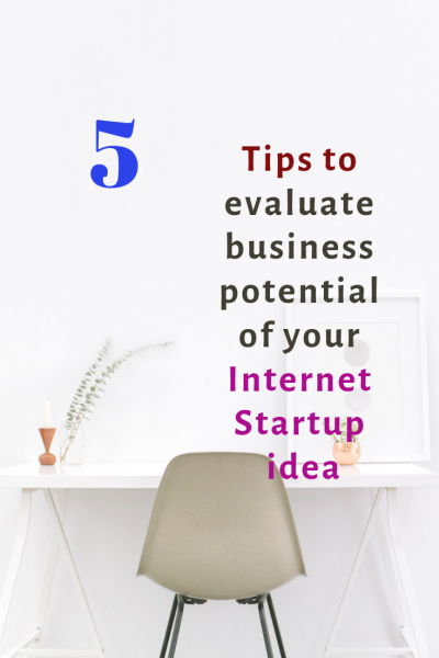 evaluate commercial potential of an internet startup idea_pinterest image