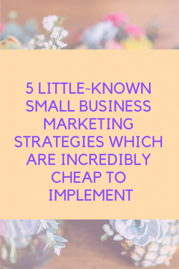 5 Little-Known Small Business Marketing Strategies Which are Incredibly Cheap to Implement