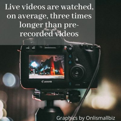 Statistics to decide Ways to use live videos