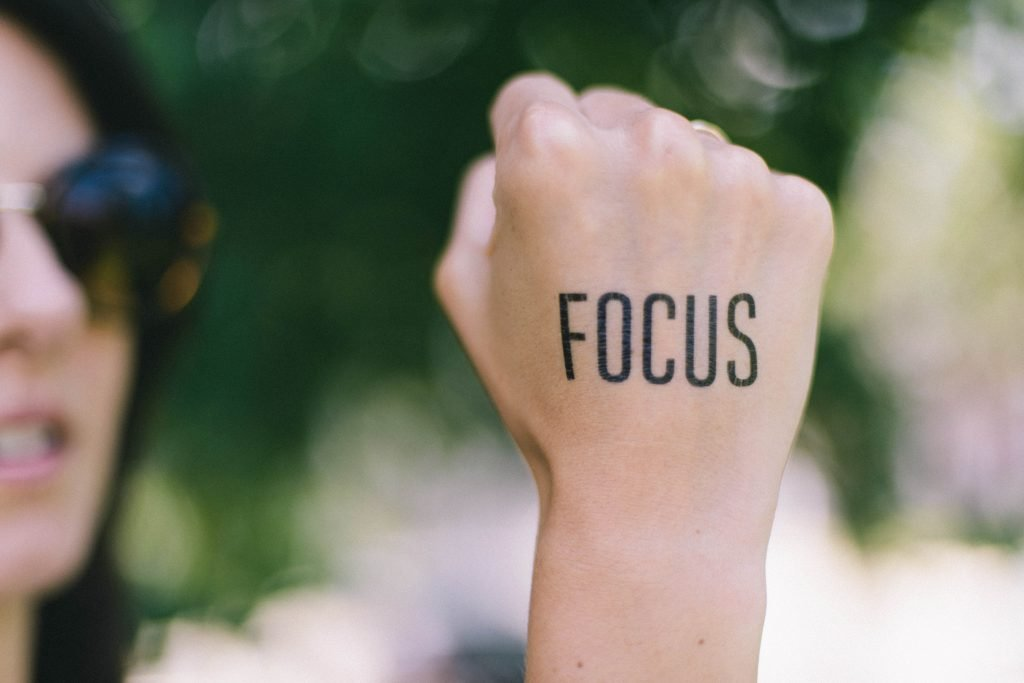 focus on your potent vision