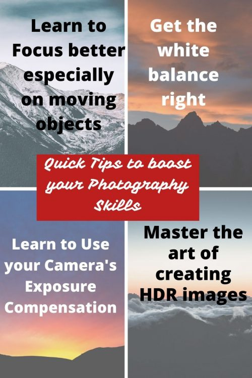 tips to boost your Photography Skills