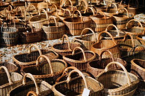 handmade baskets - one of the creative ways to make money!