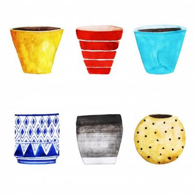watercolor-flower-pots-collection