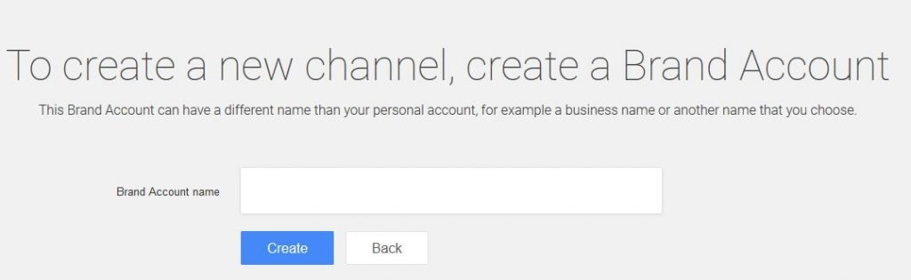how to create brand account youtube