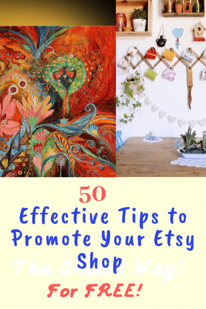 how to promote your etsy shop for free pinterest