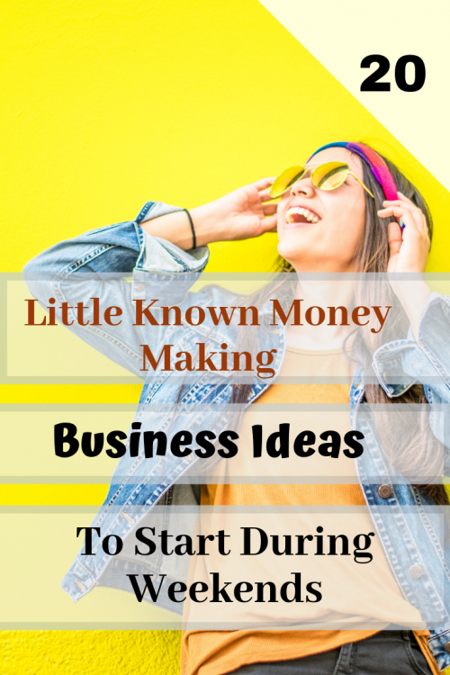 small business ideas for weekends
