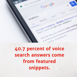 Featured Snippet for voice SEO