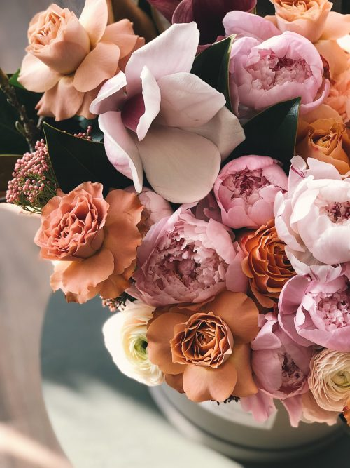 build a portfolio of faux flowers