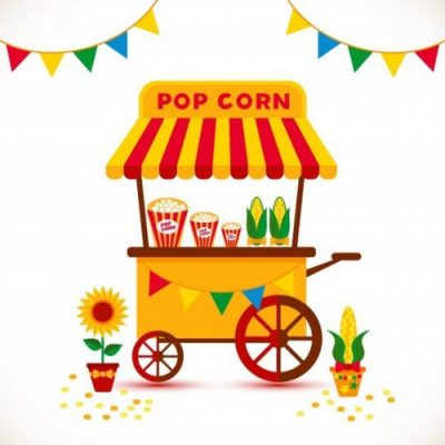 popcorn-shop - one of the unique food business ideas for students