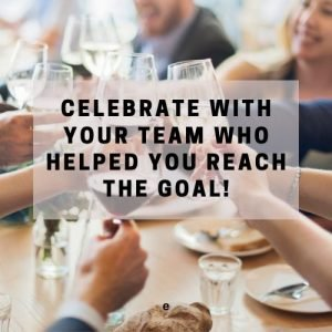celebrate with your team