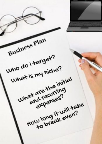 start with a business plan to set up a financial advisor business