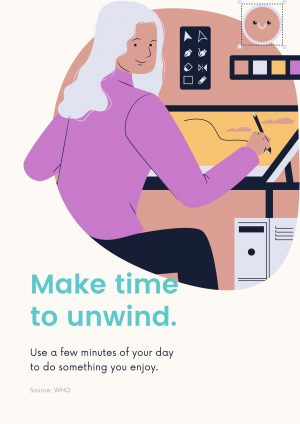 make time  to unwind - one of the best tips to manage Covid-19 stress