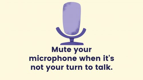 mute the mic when not speaking