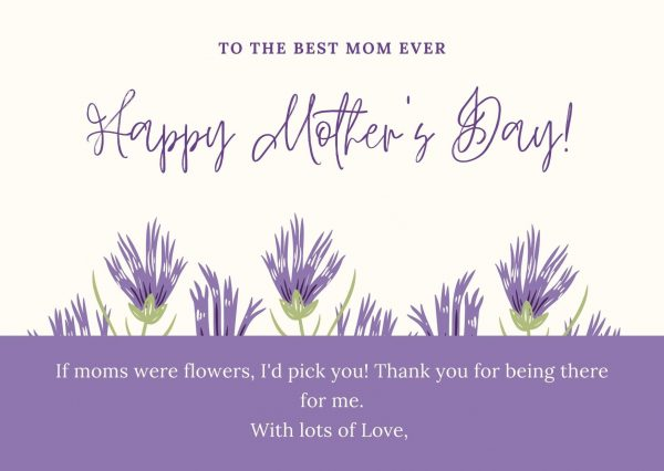 beautiful mother's day cards with verses