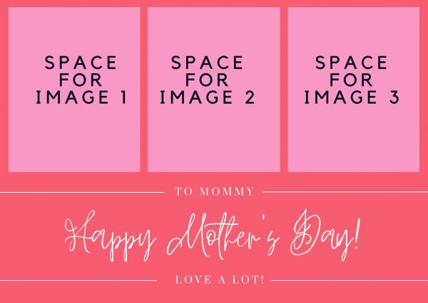 customize this mother's day card with images