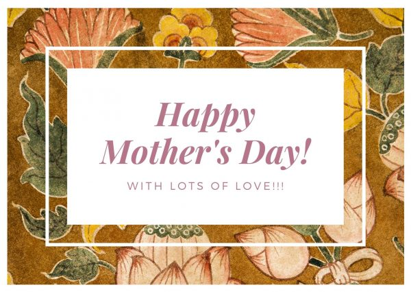 mother's day card with verses floral design