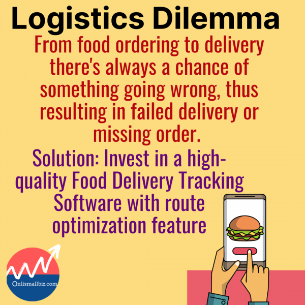 Logistics is one of the Real food delivery business challenges