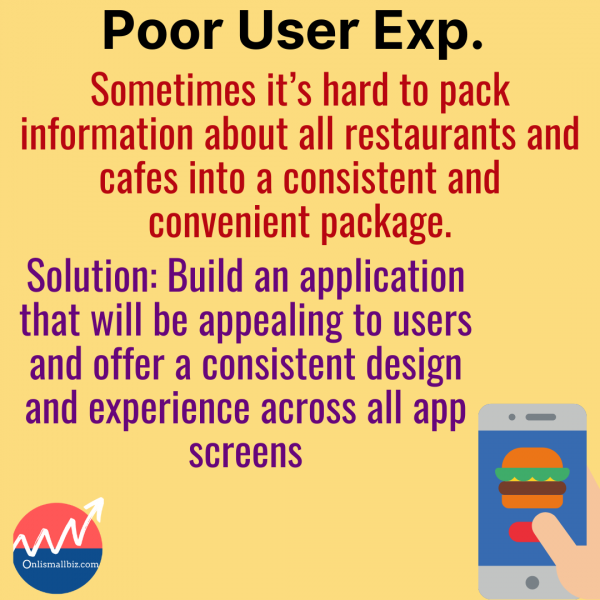 poor user experience is one of the major problems with food delivery startups
