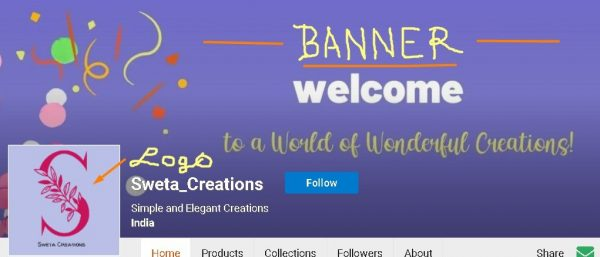 Zazzle store banner and logo